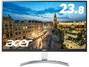 Acer/エイサー 【メーカー3年保証】IPSパネル採用 23.8型ワイドLED液晶ディスプレイ RC241YUsmidpx シルバー&ブラック