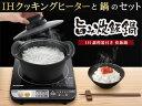 【nightsale】 IRIS OHYAMA/アイリスオーヤマ 【特価品】H-DRC-18 IH旨み炊飯鍋 18cm 【IHクッキングヒーター付き】