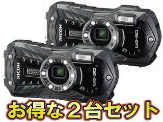 RICOH/リコー RICOH WG-50(ブラック)×2台セット【wg50set】 【当店在庫限り!早い者勝ち!】