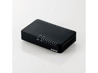 ロジテック(エレコム) 100MbpsスイッチングHub/8P/磁石・電源外付/ブラック EHC-F08PA-JB
