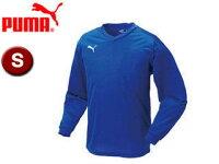 PUMA/プーマ 903292-1 ワンポイント長袖ゲームシャツ 【S】 (BLUE-WHITE)の画像
