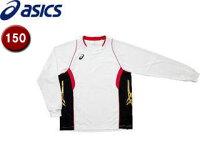 asics/アシックス XW1315-0124 ゲームシャツLS【150】 (ホワイト×Vレッド)の画像