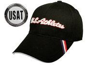【nightsale】 LEZAX/レザックス USCP-5555 U.S.Athletes キャップ マーカー付き (ブラック)
