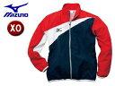 mizuno/ミズノ 85FQ100-86 トレーニングクロスシャツ 【XO】 (ネイビー×レッド)
