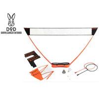 Doppelganger OUTDOOR/ドッペルギャンガー PB2-167 ポータブルバドミントンネット (ブラック・オレンジ)の画像