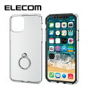 ELECOM/エレコム iPhone 11 Pro用ハイブリッドケース/リング付 シルバー PM-A19BHVCRSV