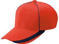 ZETT/ゼット 野球キャップ 六方 丸型キャップ サイズ:JFREE カラー:レッドの画像