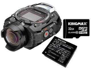 RICOHWG-M1(ブラック)+DB-65+32GBmicroSDHCカードセット【wgm1set】