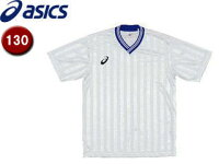 asics/アシックス XS3138-0145 Jr.ゲームシャツHS【130】 (ホワイト×ブルー)の画像