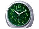RHYTHM/リズム時計 8RE666SR19 ルークR666/連続秒針/自動点灯/電子音アラーム/スヌーズ機能付 シルバーメタリック