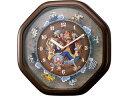 RHYTHM/リズム時計 4MH880-M06 【ワンピースからくり時計】 クオーツ掛時計/メロディ