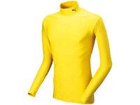 PUMA/プーマ 920480-11 TEAM SPORT APPAREL COMPRESSION モックネック LSシャツ 【L】[レモンイエロー×ブラック]の画像