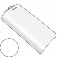 SHARP/シャープ 電話機・ファクシミリ用 充電池ふた(子機用)<ホワイト系> [5951170124]