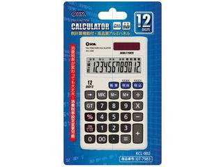 OHM/オーム電機 12桁税計算手帳電卓 KCL-002