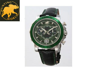 HUNTING WORLD/ハンティングワールド HW913GR ハンティングワールド 腕時計 イリス グリーン メンズ 【RPS160228】