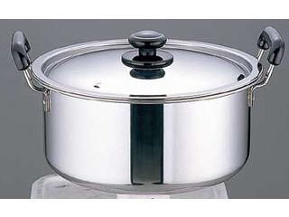 SA SAステンレス プラ柄 厚板実用鍋/24cm