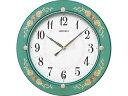セイコー セイコー 電波掛時計/緑花柄/KX220M