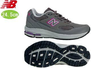 NewBalance/ニューバランス WW1501-EE-GP FITNESS WALKING レディース シューズ  [グレー×パープル]【24.5cm】 2012年2月 NEW WALKING フィットネス シューズ ピンクリボン対象商品