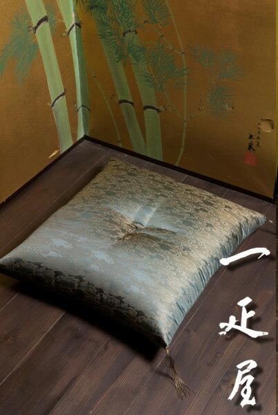 正絹緞子(水雲)座布団 65×69cm ※夫婦判