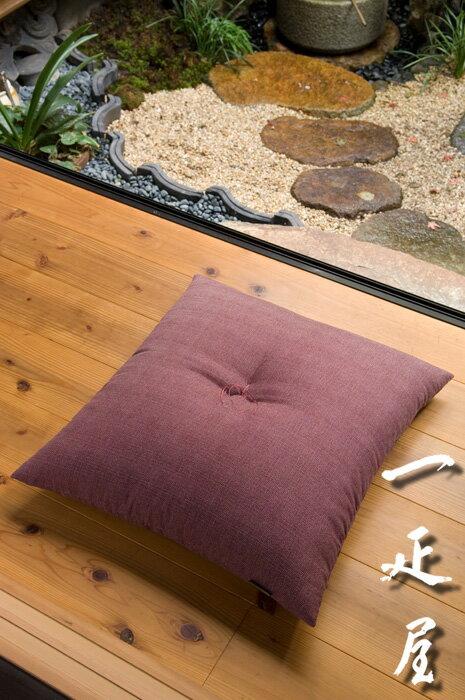 鮫小紋(あずき)座布団 59×63cm ※八端判