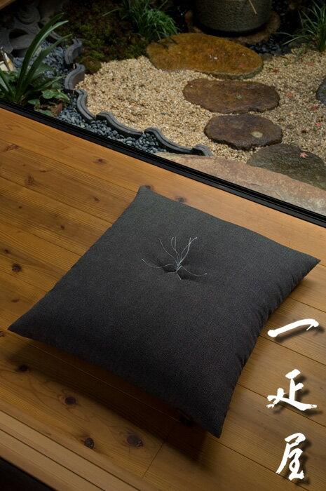鮫小紋(黒)座布団 55×59cm ※銘仙判