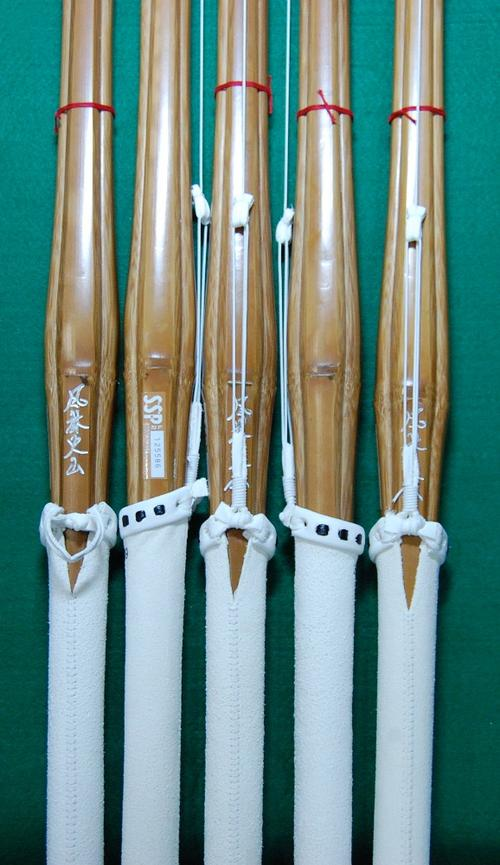 【くん竹】3尺7寸 風林火山 5本セット 中学生用 竹刀完成品37 【送料無料】