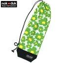 nokduk バドミントンラケットケース バドミントンラケットカバー ファンシーシリーズ フラワー緑 スマートでコンパクト(2本可) バド..