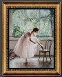 【壁掛け】【油絵】【絵画】【おしゃれなギフト】油絵画 バレリーナ 人物画◆F10(53.0×45.5cm)〜F50(116.7×91.0cm)対応可能◆オーダーメイド制作◆国産額