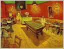 【高級肉筆複製名画】【壁掛け】【油絵】【絵画】【おしゃれなギフト】フィンセント・ファン・ゴッホ「夜のカフェ」◆F15(65.2×53.0cm)◆オーダーメイド制作◆無料で選べる額縁付き