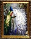【壁掛け】【油絵】【絵画】【おしゃれなギフト】油絵画 孔雀 クジャク 鳥 動物画◆F10(53.0×45.5cm)〜F50(116.7×91.0cm)対応可能◆オーダーメイド制作◆国産額