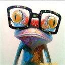 ミュゼ・デユ オイルペイントモダン ファブリックパネルアート ペット 絵画 動物 油彩絵 壁掛け 手書き アートパネル 犬 猫 鳥 魚 鹿 猿 熊 蛙 虫 馬 カエルとメガネ フレームなし ADD055