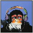 【オイルペイント】ゴリラ 絵画ペットの絵 『俺はゴリラ』サイズL:縦83cm×横83cm×厚さ3.0cm 【額付】【かべ 壁飾り】壁掛け 子供 部屋