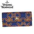 【レビューを書いて送料無料】Vivienne Westwood ヴィヴィアン ウエストウッド長財布 財布 さいふ ビビアン32337 LOGOMANIA BLUE 【smtb-k】【w3】【YDKG-k】【W3】