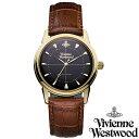 【送料無料】Vivienne Westwood ヴィヴィアン ウエストウッド メンズ 腕時計 時計 とけい ビビアン Grosvenor VV064BKBR 【あす楽対応】【RCP】【プレゼント】0824楽天カード分割