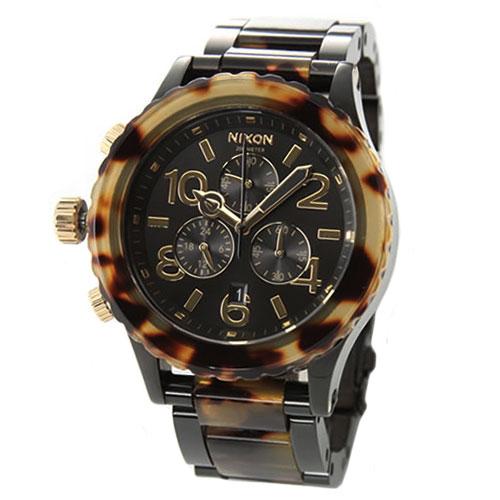 【送料無料】 NIXON ニクソン ユニセックス 腕時計 THE 42-20 CHRONO クロノグラフ ベッコウ柄 A037-679 A037679 トートイズ 時計 【あす楽対応】【RCP】【プレゼント】