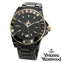 【送料無料】 ヴィヴィアンウエストウッド 時計 ヴィヴィアン 腕時計 Vivienne Westwood VV048GDBK ユニセックス メンズ レディース ...