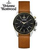 【送料無料】 Vivienne Westwood ヴィヴィアン ウエストウッド メンズ 腕時計 時計 とけい ビビアン クロノグラフ VV069BKBR 【あす楽対応】【RCP】【プレゼント】