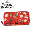 【送料無料】 Vivienne Westwood ヴィヴィアン ウエストウッド ラウンドファスナー 長財布 財布 さいふ ビビアン 5140 LOGO PRINT ROSSO/CANNA 【あす楽対応】【RCP】【プレゼント】【赤字特価】【セール】02P06May16