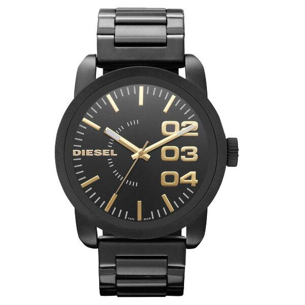 【送料無料】 DIESEL ディーゼル メンズ 腕時計 時計 FRANCHISE フランチャイズ DZ1566 ブラック×ゴールド 【あす楽対応】【RCP】【プレゼント】