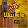ghs H-10 ハワイアン・ウクレレ を 1set ブラックナイロンウクレレ弦