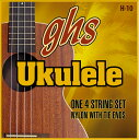 ghs H-10 ハワイアン・ウクレレ を 4set ブラックナイロンウクレレ弦