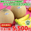 【送料無料】【メロン】【化粧箱入り】静岡が誇るメロンの最高級ブランド!静岡産クラウンメロン1.0kg×2玉(北海道、沖縄、一部離島は別途300円)