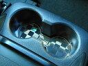 トヨタ VELLFIRE ヴェルファイア 30系 H27.1月〜 専用 センターコンソールドリンクコースター type チェッカー クローム MUTリング