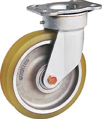 重荷重用リボキャスター(ウレタン車輪)φ250 TSH10ATR チルコーポレーション 自在式、特殊鋼金具