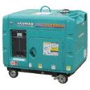 【直送】【代引不可】空冷ディーゼル発電機 60Hz 5.6kVA(交流専用)セル付 YDG600VST-6E ヤンマー