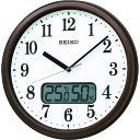 SEIKO(セイコー) 電波掛時計 (温度湿度表示付き) KX244B