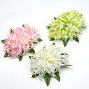 フラダンス 髪飾り ラージスパイダーリリィ ヘアクリップ 白 ピンク 緑