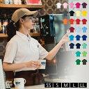 ポロシャツ レディース 半袖 ポケット付き ボタンダウン 無地 吸汗 速乾 白 黒 かわいい UVカット ドライ 制服 仕事 4.4オンス