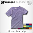 Short sleeve T-shirt (Lady's) which there is Demi moon [DEMIMOON] lib in