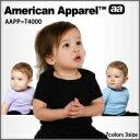 アメリカンアパレル【アメアパ】ベイビーリブショートスリーブラップTシャツ
